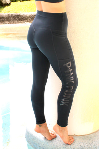 Womens Compression Bike Shorts With Side Pockets 'GRAPHITE'