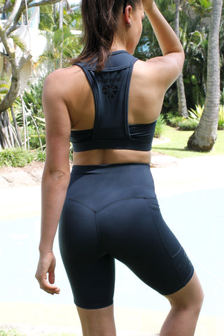 Womens Compression Bike Shorts 'Day Dreams'