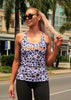 SIZE 8 Womens Compression Racer Tank 'Snow Leopard'