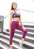 Squat proof compression pocket tights- Cropped Length - Berry