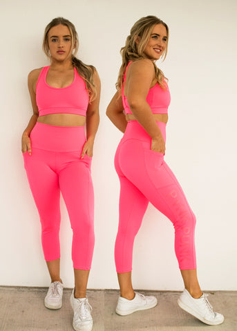 Body Contouring Compression Tights 3/4 - MAJESTIC