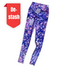 SALE/ LAST PAIR - SIZE 8 Womens Compression Full Length Tights With Side Pockets 'Ultra Violet'