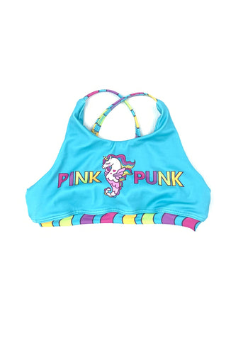 Mini Punk 'RAINBOW MERMAID' Crop Top