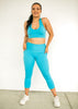 Squat proof compression pocket tights- Cropped Length - Sky Blue