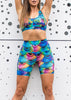 Body Contouring Compression Short Tights - Rainbow Mermaid
