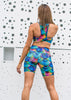 Womens Compression Bike Shorts 'Rainbow Mermaid'