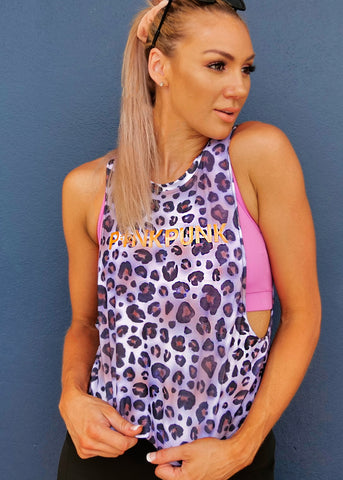 Womens 'Majestic' Cropped Muscle Tank