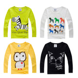 Stylish Cotton Childrens Long Sleeve T Shirts Girls and Boys