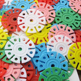 150pcs Multicolor Snowflake Creative Building Blocks Assemblage Toy