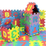 36pcs Mini Puzzle Educational Alphabet Letters Numeral Foam Mat