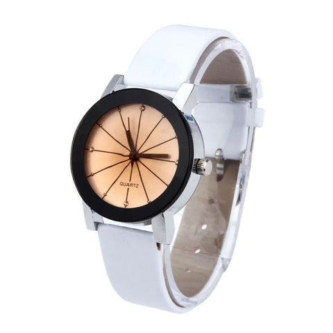 Casual Faux Leather Quartz Analog Women's Wrist  watch