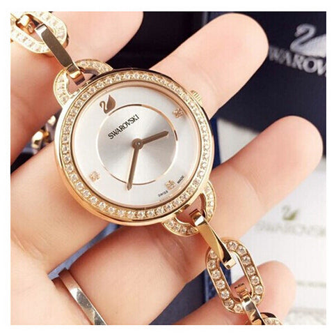 Stainless Steel Diamond Luxury Quartz Bracelet Watch