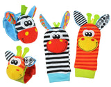 Animal Baby Infants Foot Sock and wrist Rattles