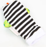 Colorful Rattle Baby Toys Garden Bug Wrist Rattle + Foot Socks 4pcs a Set