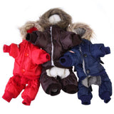 Warm Small Dog Winter Clothes Padded Hoodie Jumpsuit