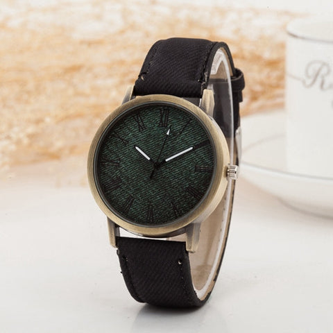 Women's Quartz Denim Fabric Casual Watches