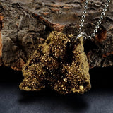 Irregular Natural Druzy Gem Stone Quartz Crystal Agate Pendant Necklaces