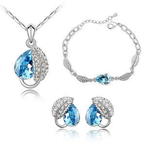 Austrian Crystal Jewelry Sets Including Stud Earrings, Necklaces, Pendants and Bracelets For Women / With Swarovski Elements