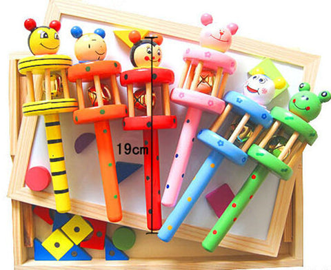 Wooden Musical Instrument Rattle Toy