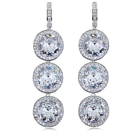 Cubic zirconium Long Drop Earrings Original Design