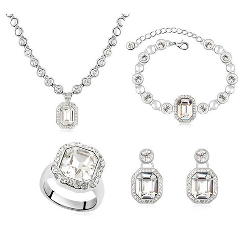 Women s Austrian Crystal Diamond Jewelry Set – Just Pay Shipping