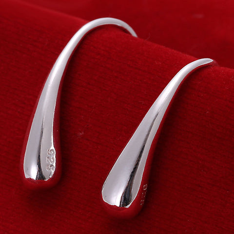 925 Sterling Silver Plated Filled Solid Teardrop Earrings