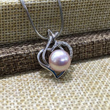 925 Sterling Silver Freshwater Pearl Pendant Necklace
