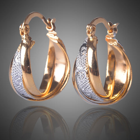 18K Gold/Silver Hoop Earrings For Women
