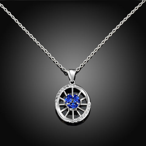 925  Sterling Silver Collares Zirconium Miss Shi Necklace