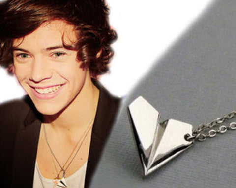 Free Harry Styles Paper Airplane Silver pendant Necklace