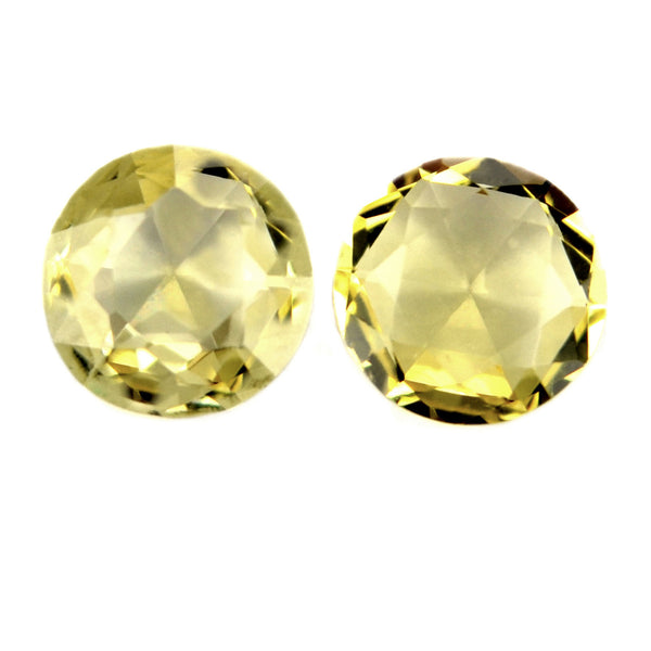 0.37 ct Certified Natural Yellow Sapphire Pair
