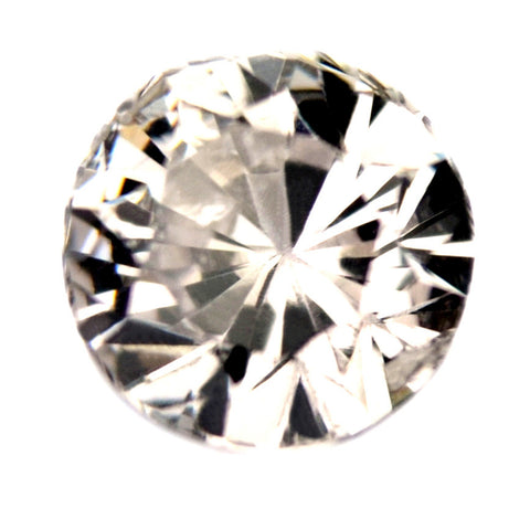 0.46 ct Certified Natural White Sapphire