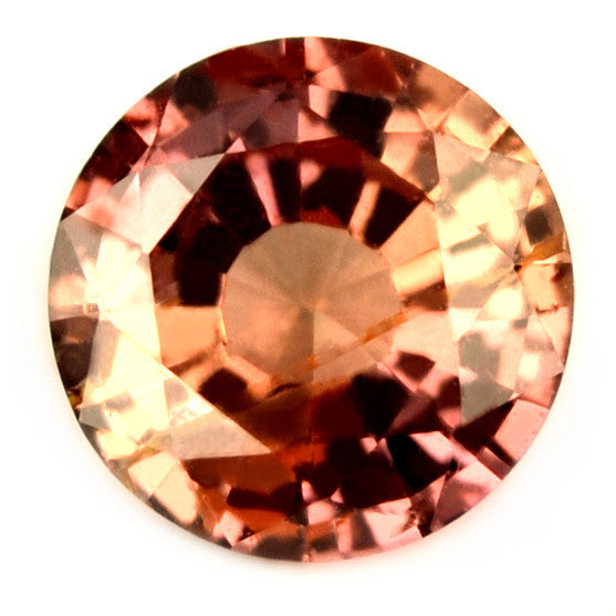 Certified Natural 4.5mm Unheated Peach Round Sapphire - sapphirebazaar - 1