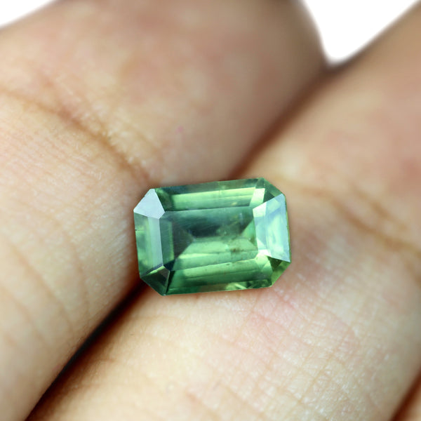1.43ct Certified Natural Green Sapphire