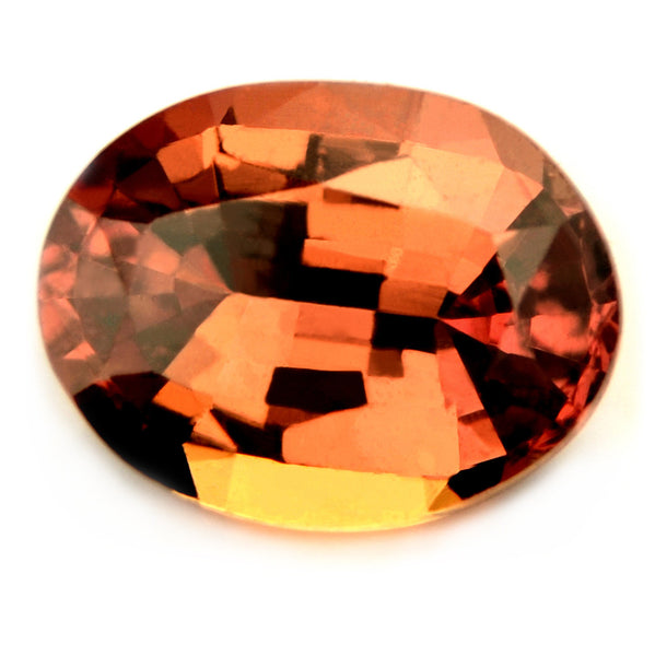 Certified Natural 1.23ct Unheated Copper Orange Sapphire - sapphirebazaar - 1
