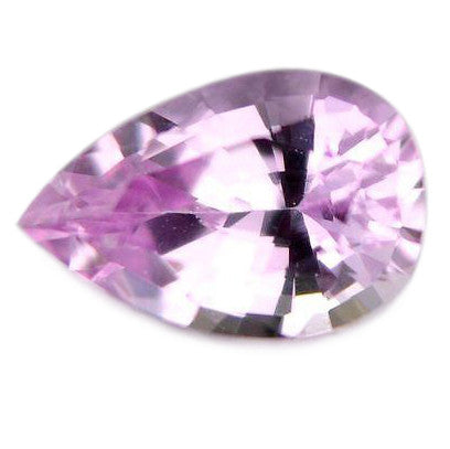Natural Certified 5x4mm pear 0.33ct VVS Untreated purplish pink Sapphire - sapphirebazaar - 1