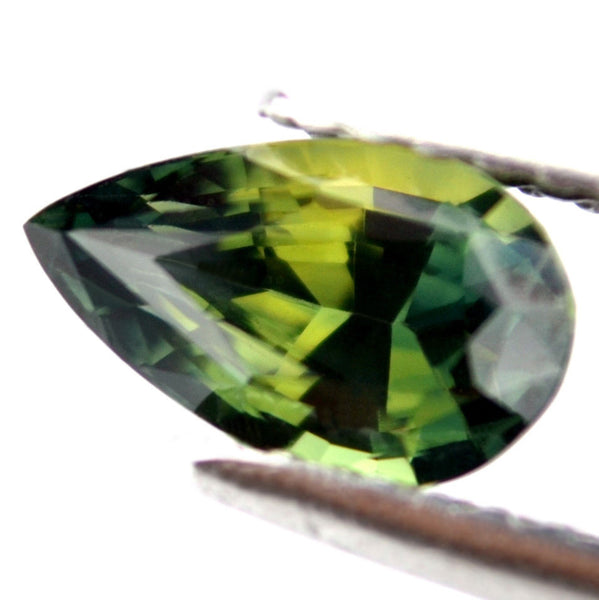 1.24 ct Certified Natural Green Sapphire