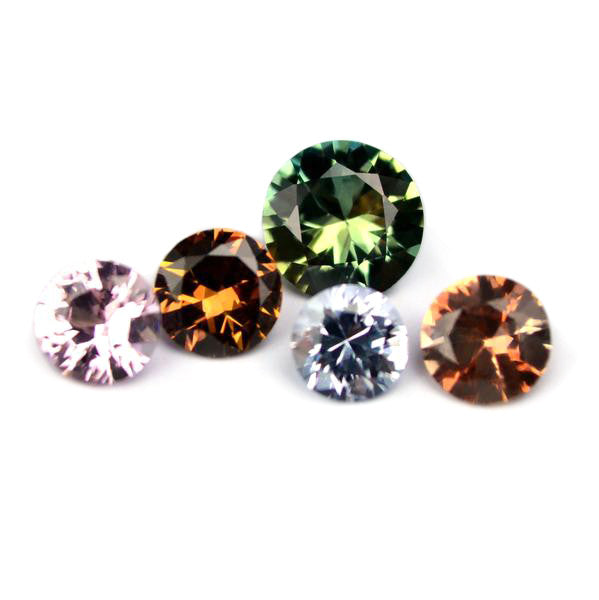 1.07 ct Certified Natural Multicolor Sapphire Set