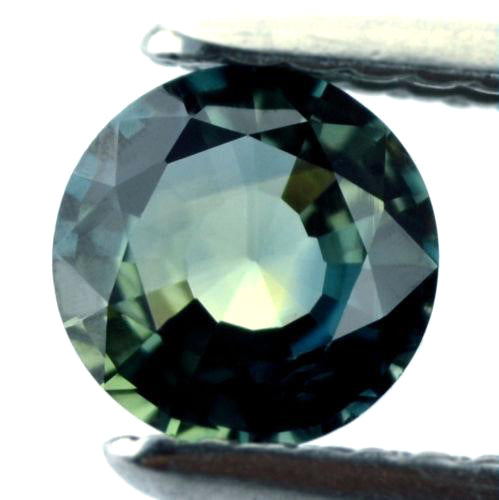 5.53 mm Certified Natural Round Teal Sapphire