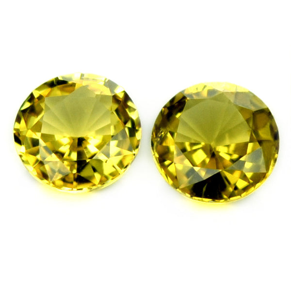Certified Natural Unheated 3.6mm Yellow Round Sapphires - sapphirebazaar - 1