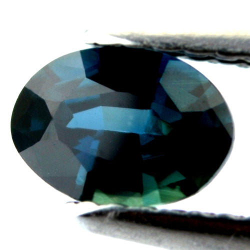 Certified Natural 0.72ct Teal Sapphire vs Clarity Oval Shape Madagascar Gem - sapphirebazaar - 1