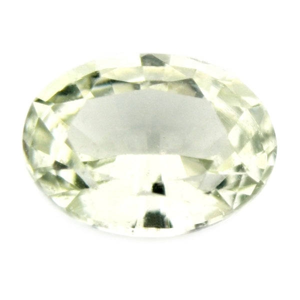 0.42ct Certified Natural White Sapphire