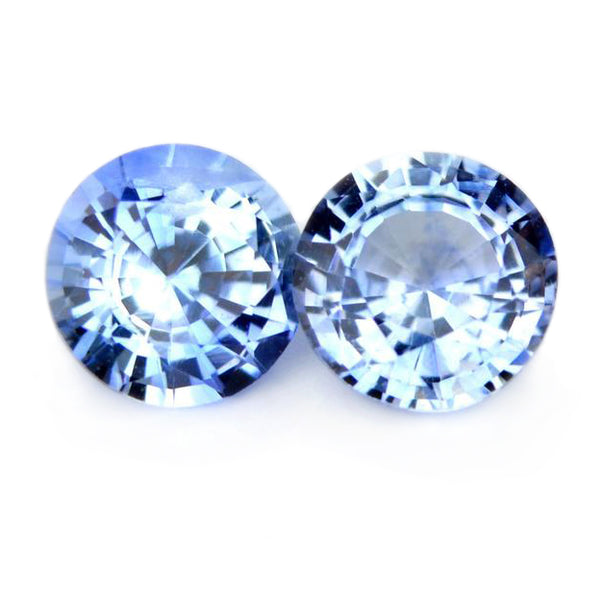 4.33 mm Certified Natural Blue Sapphire Pair