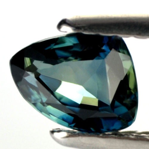Certified Natural 1.00ct Teal Sapphire Flawless IF Clarity Trillion Shape Madagascar Gem - sapphirebazaar - 1