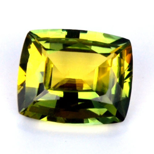 Certified Natural 0.89ct BiColor Green Yellow Sapphire Flawless IF Clarity Madagascar Gem - sapphirebazaar - 1