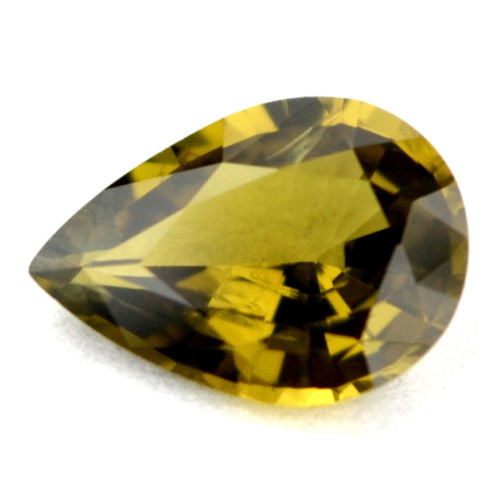 0.88 ct Certified Natural Green Sapphire