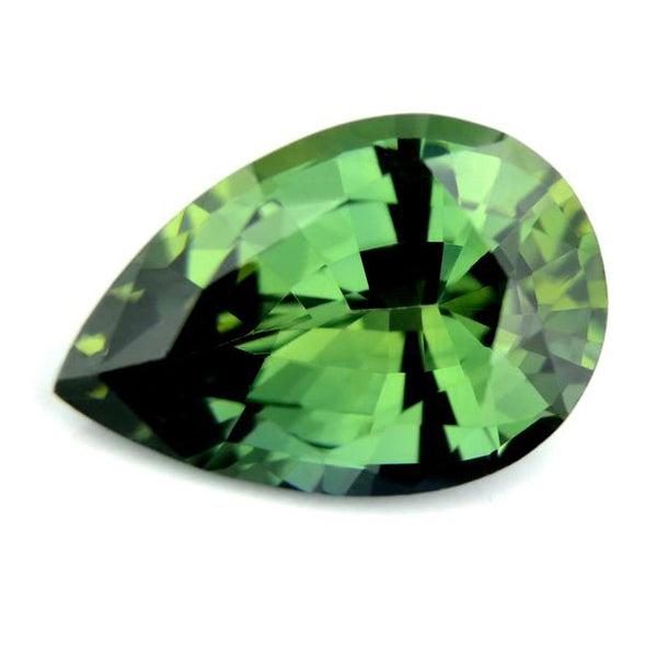 1.44 ct Certified Natural Green Sapphire
