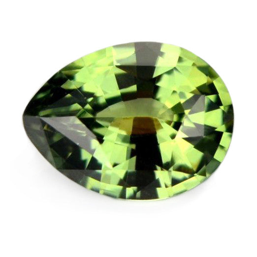 0.89 ct Certified Natural Green Sapphire