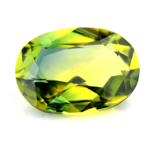 Certified Natural Sapphire Greenish Yellow Color 0.52ct Vvs Clarity Rose Cut Oval Madagascar Gem - sapphirebazaar - 1