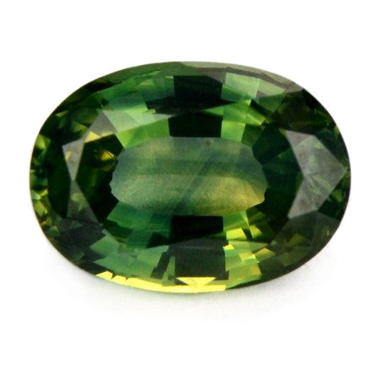 0.87 ct Certified Natural Green Sapphire
